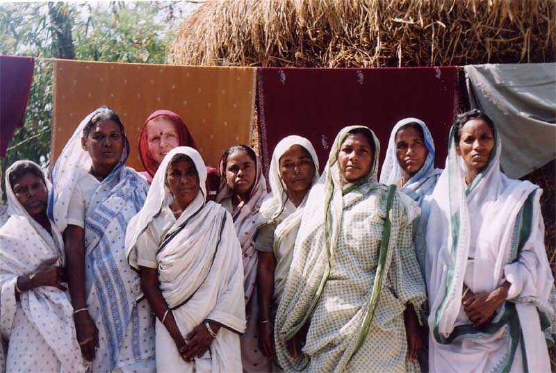 Widows in the Sundarbans Tiger Reserve in the Bay of Bengal, India