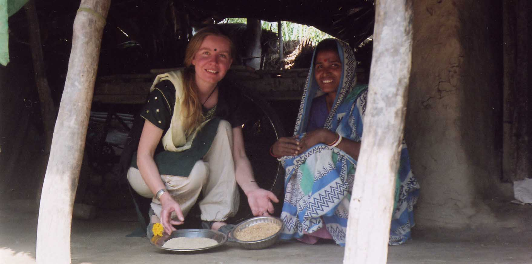 Sinead with widow and rice.